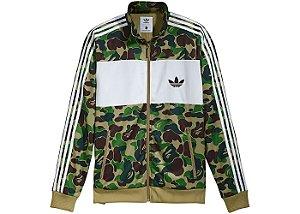 """adidas X Bape - Jaqueta Firebird """"Green"""""""