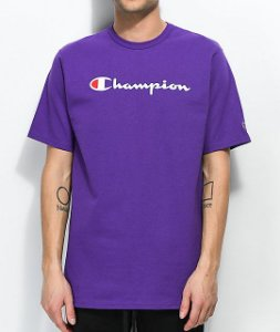 "CHAMPION - Camiseta Script Logo ""Purple"""