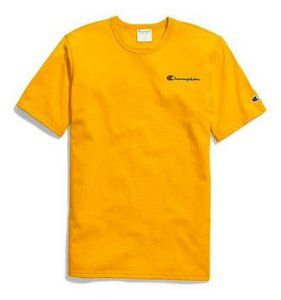 "CHAMPION - Camiseta Heritage Embroidered Script ""Yellow"""