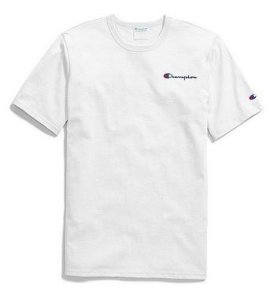 "CHAMPION - Camiseta Heritage Embroidered Script ""White"""