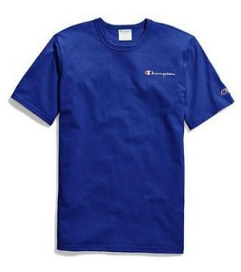 "CHAMPION - Camiseta Heritage Embroidered Script ""Blue"""