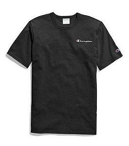 "CHAMPION - Camiseta Heritage Embroidered Script ""Black"""