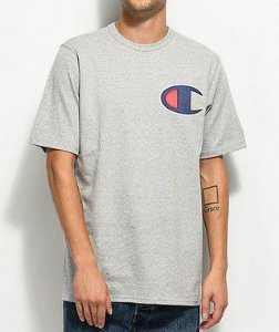 "CHAMPION - Camiseta Heritage Big C Patch ""Grey"""