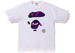 "BAPE - Camiseta Color Camo Ape Face ""White/Purple"""