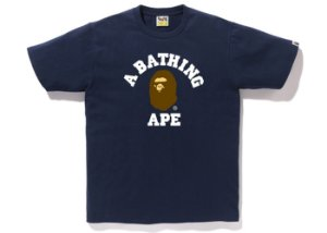 "BAPE - Camiseta College ""Navy"""