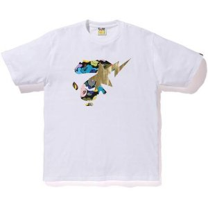 "BAPE - Camiseta ABC Multi Ape Face On Bapesta ""White"""