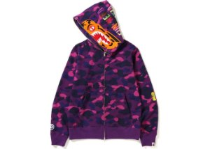 "BAPE - Moletom Color Camo Tiger Full Zip ""Purple"""