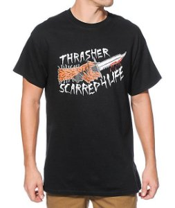 "THRASHER - Camiseta Scarred ""Black"""