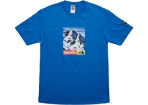 "Supreme x The North Face - Camiseta Mountain ""Royal"""