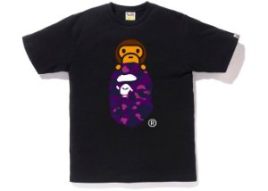 "BAPE - Camiseta Color Camo Milo on Ape Head ""Black/Purple"""