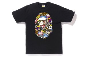 "BAPE - Camiseta Patched Big Ape Head ""Black"""