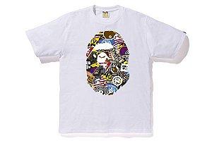 "BAPE - Camiseta Patched Big Ape Head ""White"""
