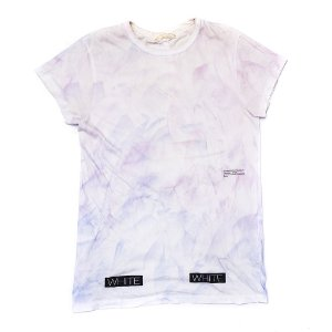 "OFF-WHITE X SSENSE - Camiseta Blue in Purple ""Tie-Dye"""