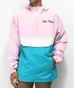 "ODD Future - Jaqueta Eternity Ring Anorak ""Pink/Teal"""