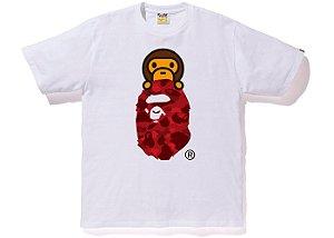"BAPE - Camiseta Color Camo Milo on Ape Head ""White/Red"""