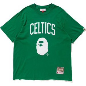 "Bape x Mitchell & Ness - Camiseta Celtics ""Green"""