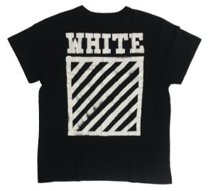 "OFF-WHITE - Camiseta Diagonal Stripe ""Black"""