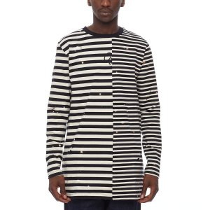 "OFF-WHITE - Camiseta Striped ""Black/White"""