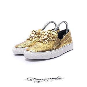 "Versace Palazzo Slip On ""Black/Gold"""