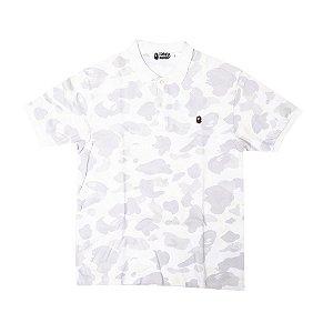 """BAPE - Camiseta Polo City Camo """"White"""""""