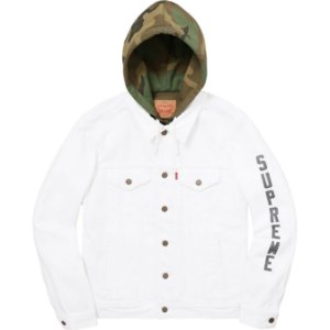 "Supreme x Levis - Jaqueta Fleece Trucker ""White"""