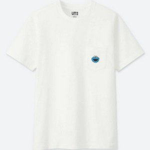 "UNIQLO X Kaws x Sesame Street - Camiseta Cookie Monster Pocket ""White"""