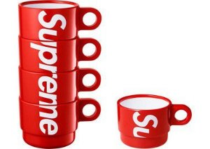 "SUPREME - Xícaras Stacking  ""Red"""