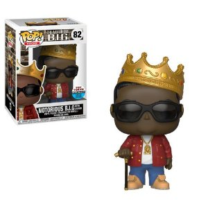 FUNKO POP - Boneco Notorious B.I.G Biggie With Crown NYCC Exclusive