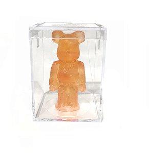 "BEARBRICK - Boneco Candy Hypefest ""Orange"" (Comestível)"
