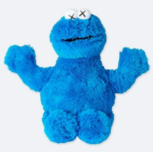 ENCOMENDA - UNIQLO x KAWS x Sesame Street - Pelúcia Cookie Monster