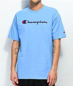 "CHAMPION - Camiseta Script Logo ""Swiss Blue"""