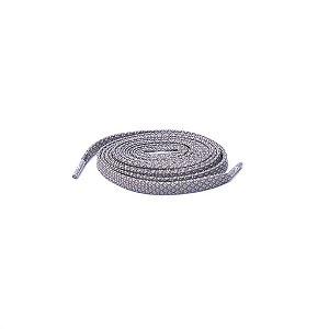 Cadarço Flat Refletivo - Cinza - 125 cm