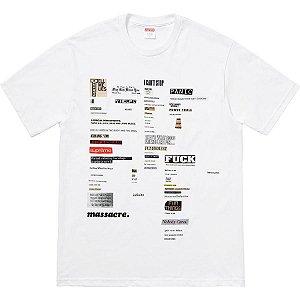 "SUPREME - Camiseta Cutouts ""White"""