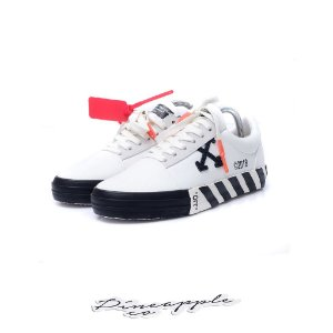 "Off-White Vulcanised Striped Low Top ""White"""