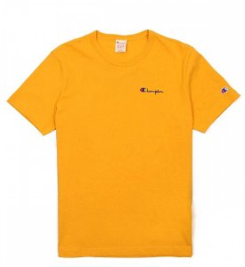 "CHAMPION - Camiseta Heritage Embroidered Script ""Yellow"""