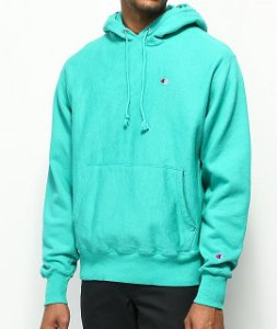 "CHAMPION - Moletom Reverse Weave ""Teal"""