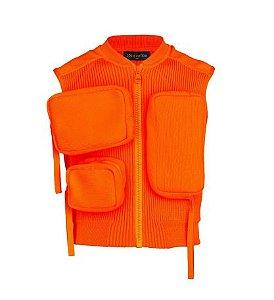 "ENCOMENDA - Louis Vuitton x Virgil Abloh's - Colete Ribbed Utility ""Orange"""