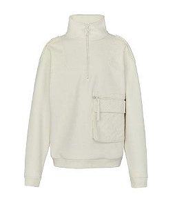 ENCOMENDA - Louis Vuitton x Virgil Abloh's - Moletom Velour Multi Pocket Half Zip
