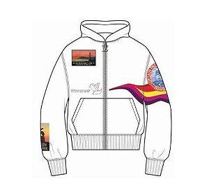ENCOMENDA - Louis Vuitton x Virgil Abloh's - Jaqueta Logo Embroidered Track Top