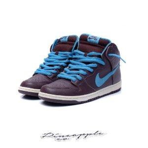 "Nike SB Dunk High ""Deep Burgundy/Aquamarine"""