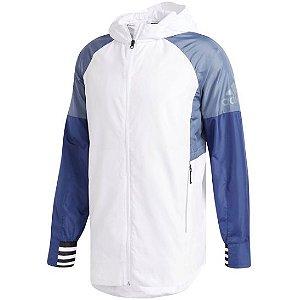 "adidas - Jaqueta Coach ""White/Blue"""