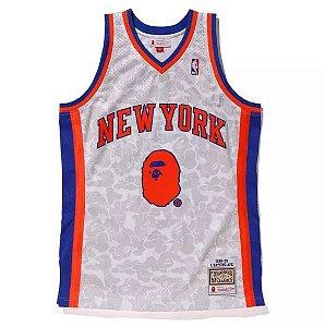 "Bape x Mitchell & Ness - Regata Swingman New York Knicks ""White"""