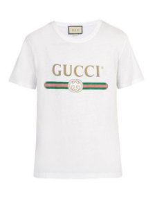 "GUCCI - Camiseta Fake Logo ""White"""