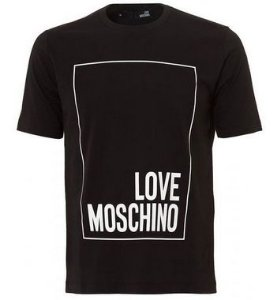 "Love Moschino - Camiseta Boxed Logo ""Black"""