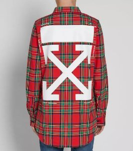 """OFF-WHITE - Camisa Check """"Red"""""""