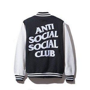 """ANTI SOCIAL SOCIAL CLUB - Jaqueta Dropout Letterman White/Black"""""""