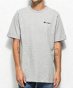 "CHAMPION - Camiseta Heritage Embroidered Script ""Grey"""