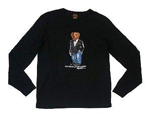 """Polo Ralph Lauren - Camiseta Polo Bear Smoking """"Black"""""""