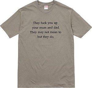"SUPREME  - Camiseta Fuck You Up ""Grey"""