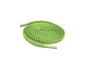 Cadarço Flat Refletivo - Verde - 125 cm